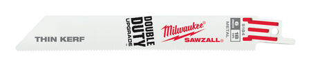 Milwaukee 6 in. L 18 TPI Bi-Metal Sawzall Blade 5 pk
