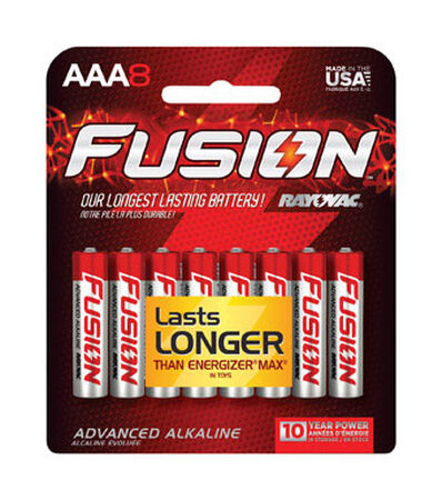 Rayovac Fusion AAA Alkaline Batteries 8 pk