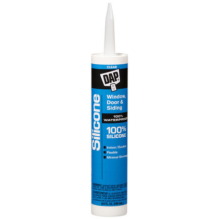 DAP Clear Silicone Rubber Door, Siding and Window Sealant 9.8 oz.