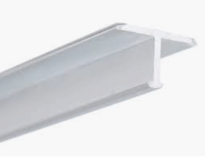 Satin Anodized 9/16 in. X 98.5 in. Aluminum T-Shaped Tile Edging Trim