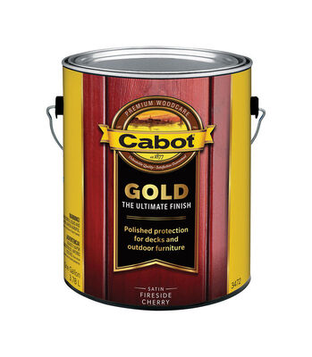 Cabot Gold Transparent Deck Vanish Fireside Cherry 1 gal.