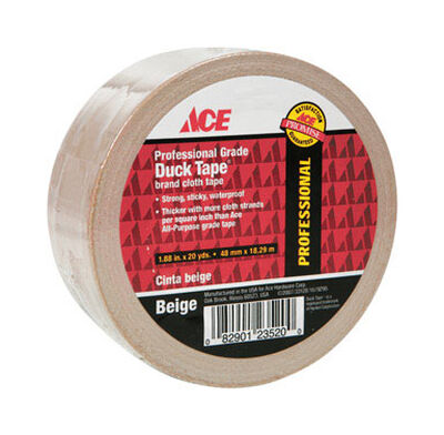 Ace Duct Tape 1.88 in. W x 20 yd. L Beige