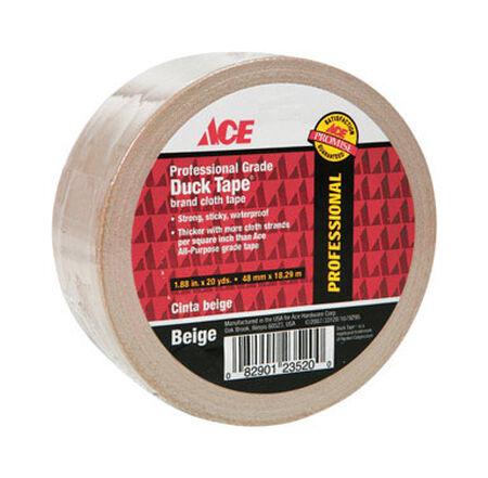 Ace Duct Tape 1.88 in. W x 20 yd. L Beige