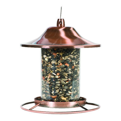Perky-Pet Wild Bird 2 lb. Copper Panorama Seed Feeder