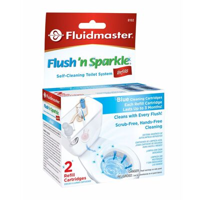 Fluidmaster Flush N' Sparkle Continuous Toilet Cleaning System Refill