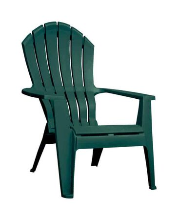 Adams 1 Green Polypropylene High-Back Adirondack Chair Green