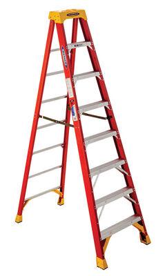 8 ft Louisville FS1508 Fiberglass Step Ladder, Type IA, 300 lb Load Capacity