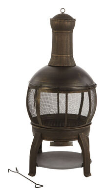 Living Accents Chimenea Multiple Fire Pit 47 in. H x 22 in. W Cast Iron/Steel