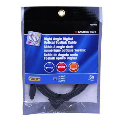 Monster Just Hook It Up 6 ft. L Digital Optical Toslink Cable Audio