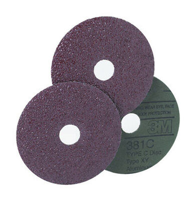 3M 7 in. Dia. Fibre Discs 50 Grit Coarse 1 pk