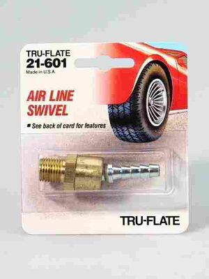 Tru-Flate Brass Airline Swivel 1/4 in. MNPT x 1/4 in. ID in. Male