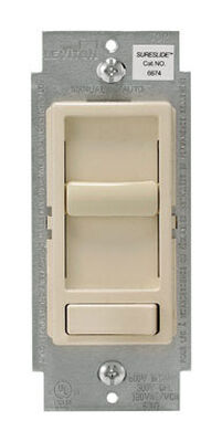 Leviton SureSlide 600 watts Three-Way Dimmer Switch Light Almond