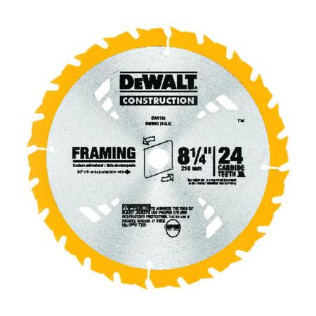 """8-1/4"""" 24T Carbide Framing Circular Saw Blade"""