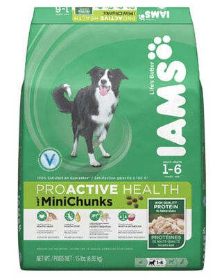 Iams Proactive Health Mini Chunks Chicken Adult Small Dog Food 15 lb.