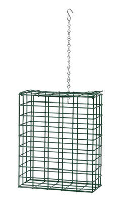 Heath Wild Bird 1 pk Metal Large Suet Seed Feeder