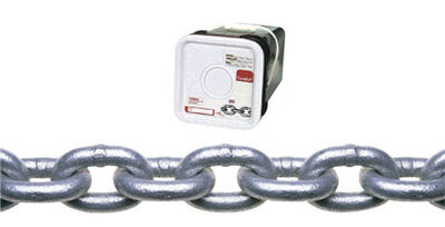 Campbell Chain Oval Link Proof Coil Chain 45 ft. L x 3/8 in. Dia. Silver Carbon Steel