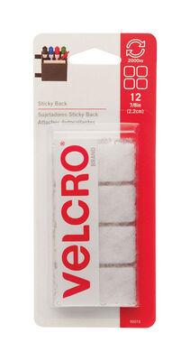 Velcro 7/8 in. L x 7/8 in. W Hook and Loop Fastener 12 pk