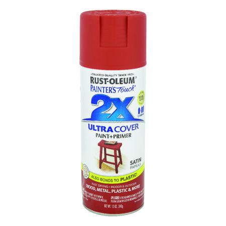 Rust-Oleum Painter's Touch 2X Ultra Cover Satin Paprika Spray Paint 12 oz.
