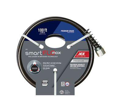 Ace SmartFlo 5/8 in. Dia. x 100 ft. L Premium Grade Garden Hose Kink Resistant