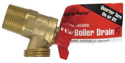 Mueller ProLine 3/4 in. Dia. Brass Boiler Drain