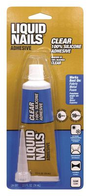 Liquid Nails Clear Small Projects Silicone Adhesive 2.5 oz.