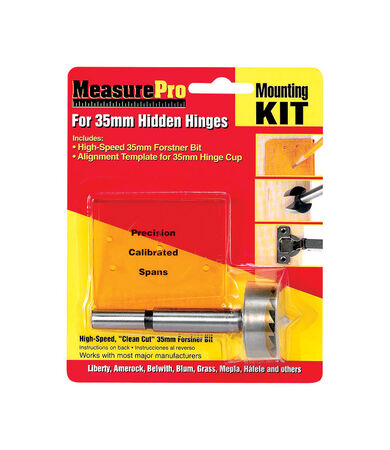 Measure Pro Hidden Hinge Mounting Kit