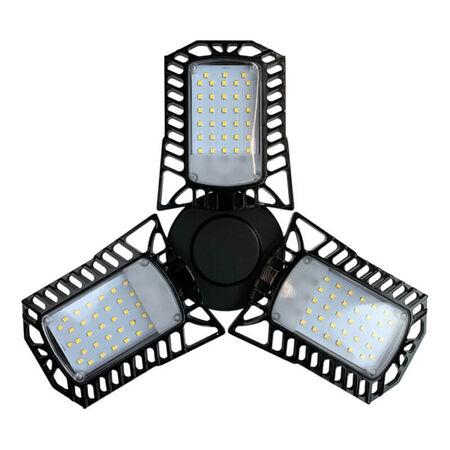 6000-Lumen Black Adjustable LED Garage Light
