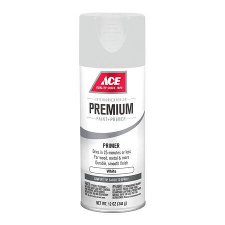 Ace Premium Smooth White Enamel Primer Spray Paint 12 oz.