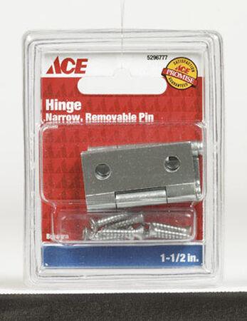 Ace 1-1/2 in. L Narrow Hinge Zinc