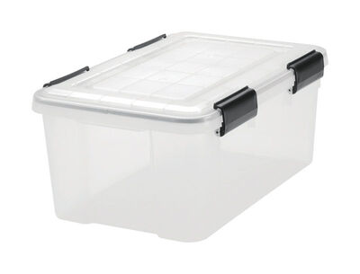 IRIS WEATHERTIGHT Storage Tote 7-7/8 in. H x 11-13/16 in. W x 17-7/16 in. D