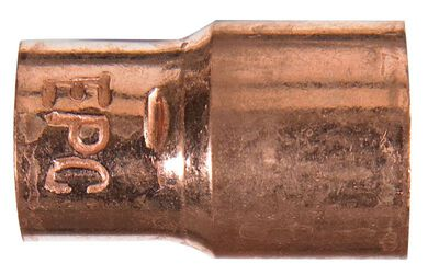 Elkhart 1/2 in. Dia. x 3/8 in. Dia. Sweat To Sweat Copper Coupling With Stop