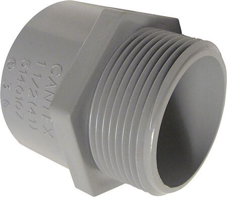 Cantex 1-1/4 in. Dia. PVC Male Adapter