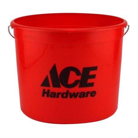 Ace Plastic Bucket 10 qt. Red