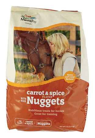 Manna Pro 4 lb. Bite Size Carrot Spice Nuggets For Horse