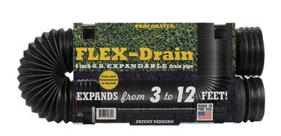Flex-Drain 12 ft. L x 4 in. Dia. x 15 in. Dia. Poly Drain Pipe