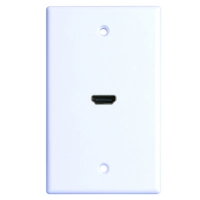 Monster Cable Just Hook It Up 1 gang White Plastic Cable/Telco Wall Plate 1 pk