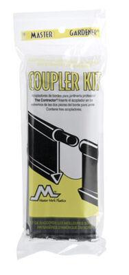 Master Mark 8 in. H x 3 in. L Black Plastic Edging Coupler Kit
