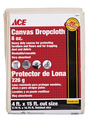 Ace Heavy Weight Canvas Drop Cloth 4 ft. W x 15 ft. L