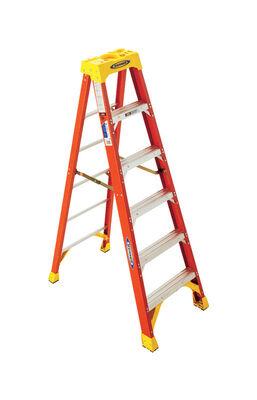 6 ft Louisville FS1506 Fiberglass Step Ladder, Type IA, 300 lb Load Capacity