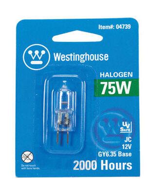 Westinghouse Halogen Light Bulb 75 watts 1350 lumens Tubular T4 1.75 in. L White 1 pk