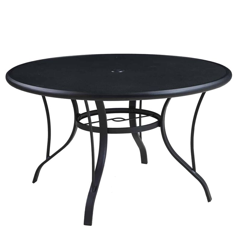 Living Accents Cortland 5 pc. Black Steel Patio Set ... on Living Accents Patio id=80535