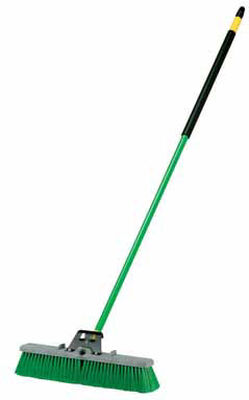 Quickie Indoor/Outdoor Broom 18 in. W x 60 in. L x 3 in. L