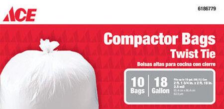 Ace 18 gal. Compactor Bags Twist Tie 10 pk