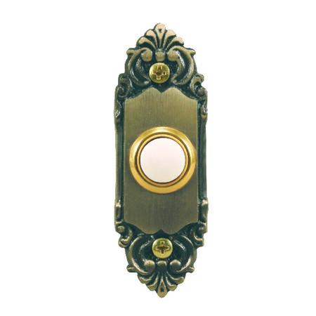 Heath Zenith Antique Brass Wired Pushbutton Doorbell