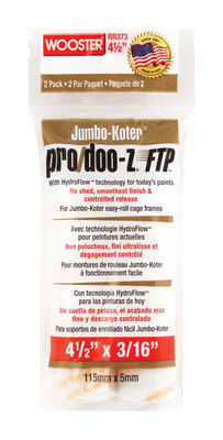 Wooster Pro/Doo-Z FTP Synthetic Blend Paint Roller Cover 3/16 in. L x 4-1/2 in. W 2 pk
