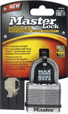 Master Lock 2 in. Dual Ball Bearing Locking Laminated Steel Padlock