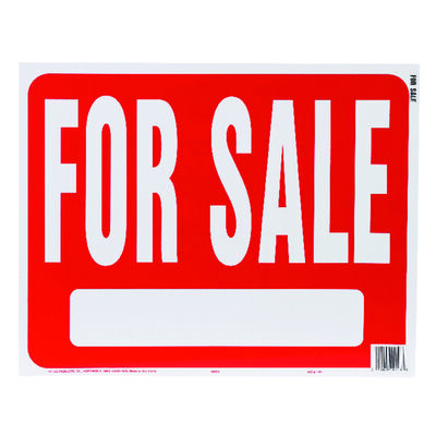 Hy-Ko English 15 in. H x 19 in. W Plastic Sign For Sale