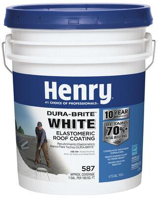 Henry Elastomeric Roof Coating 4-3/4 gal. White