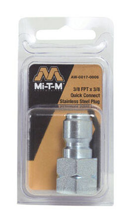 MI-T-M Pressure Washer Hose Plug 3/8 in. Quick Connect 3/8 in. x 3/8 in. CW3004 JP2700 WP2400