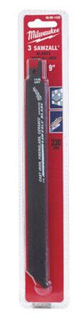 Milwaukee 9 in. L Carbide Grit Sawzall Blade 3 pk